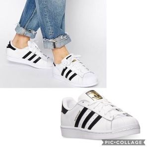Adidas Classic Black & White Superstar Sneakers